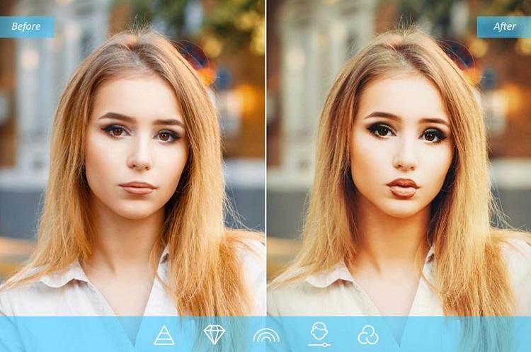 اصلاح رنگ و تغییر لبخند در اپلیکیشن Facetune