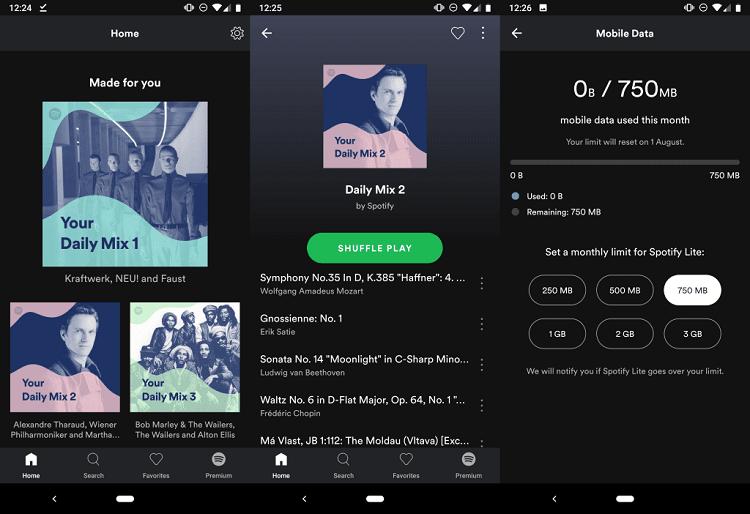 اپلیکیشن Spotify در نسخه موبایلی