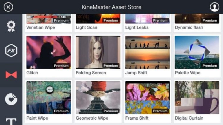 انواع فیلترها و افکتهای مختلف در فروشگاه اپلیکیشن KineMaster