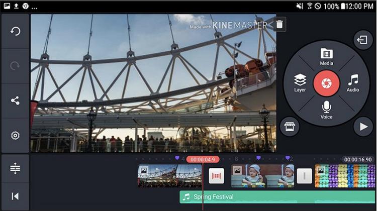صفحه ویرایش و تدوین ویدئو در اپلیکیشن KineMaster