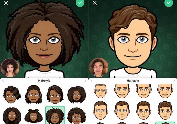 طراحی چهره در اپلیکیشن Bitmoji