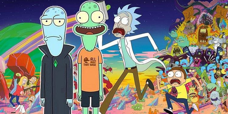 فضاهای مشترک بین Rick and Morty و Solar Opposites